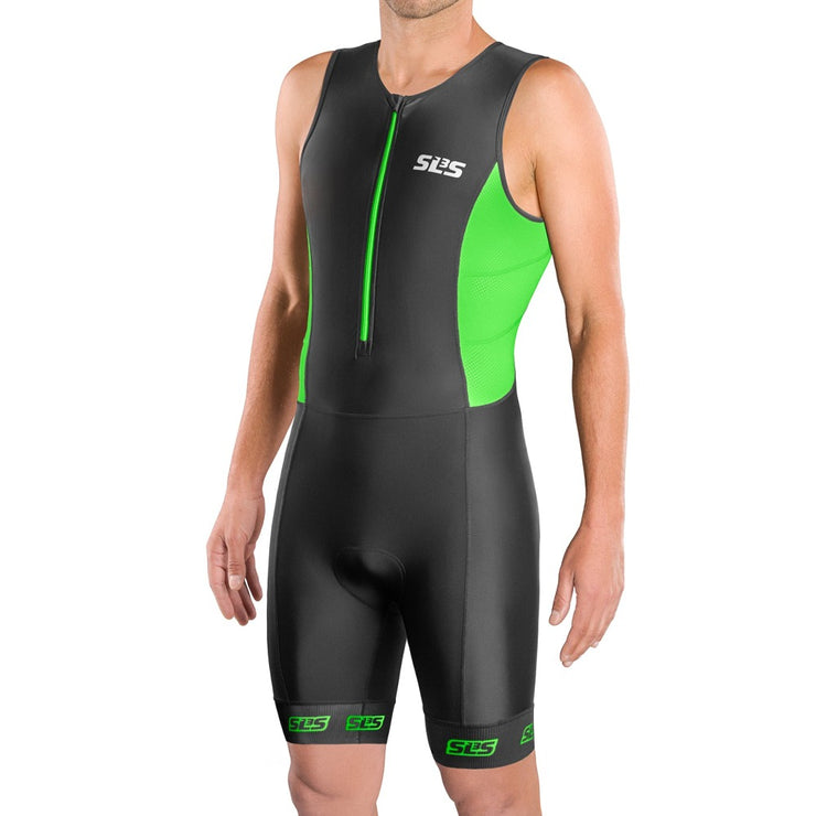 Men's FRT Triathlon Race Suit Green - SLS3