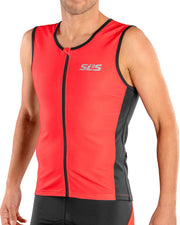 red triathlon top