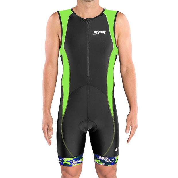 tri suit for men green