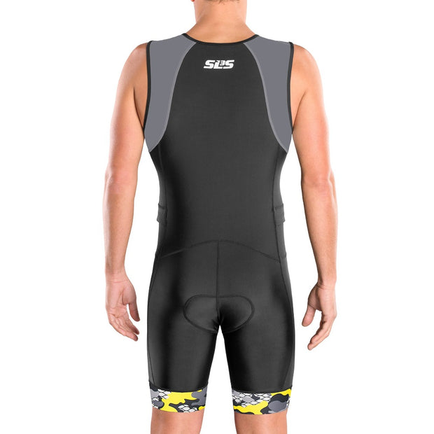 gray trisuit mens