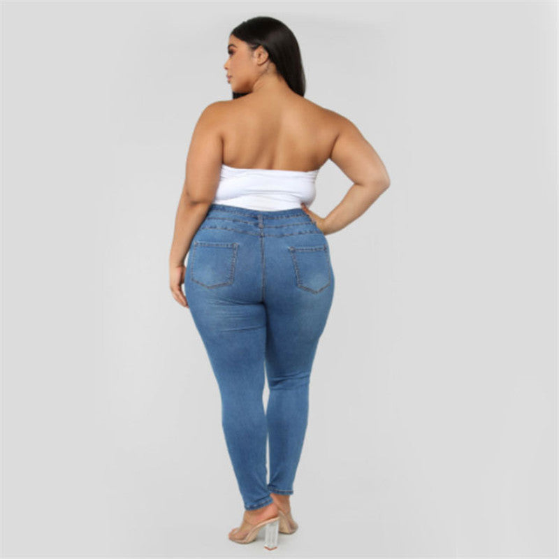 Plus Size Ripped Skinny Jeans