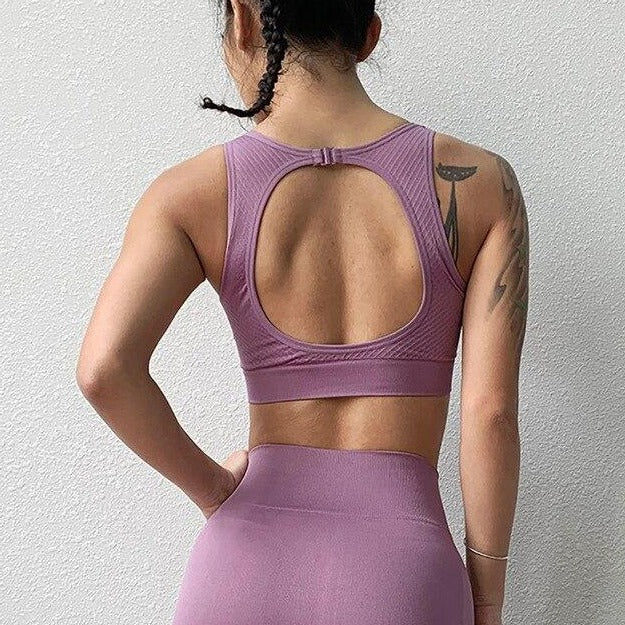 Seamless Cut Out Sports Bra
