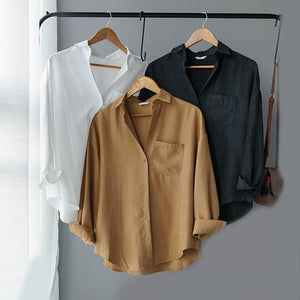 Suede Fashion Blouse