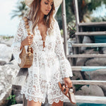 Load image into Gallery viewer, Lace Crochet Beach Cover-up