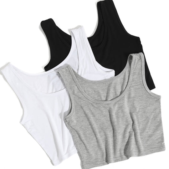 Solid Athletic Cropped Tank