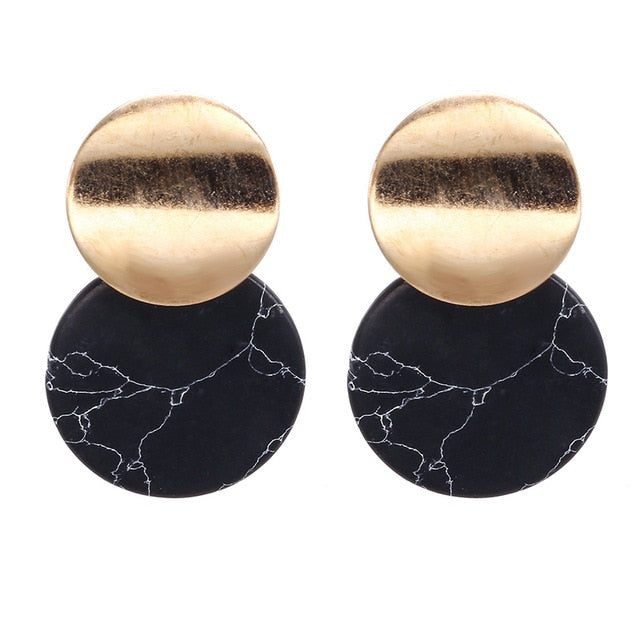 Geometric Pendant Earrings