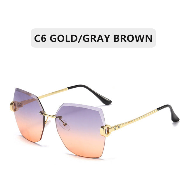 Rimless Gradient Sunglasses
