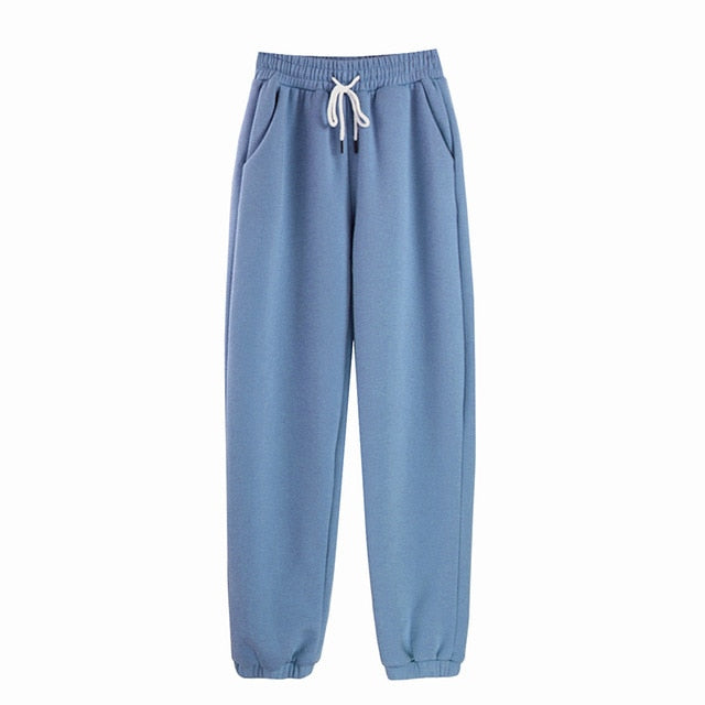 Solid Drawstring Sweatpants