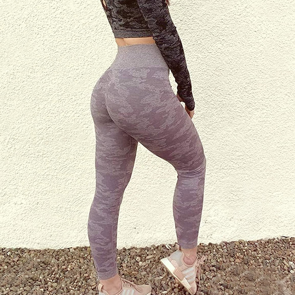Camo Seamless Scrunch Leggings