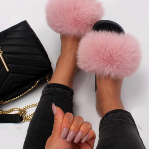 Faux Fur Fashion Sandals