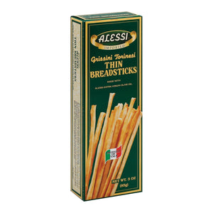 Alessi Crackers & Crispbreads Alessi Breadsticks - Thin - Case Of 6 - 3 Oz.