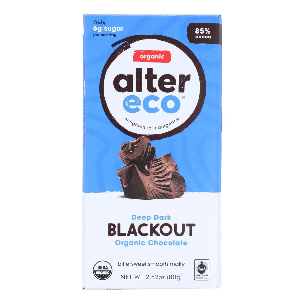 Alter Eco Americas Chocolate Alter Eco Americas Organic Chocolate Bar - Dark Blackout - 2.82 Oz Bars - Case Of 12