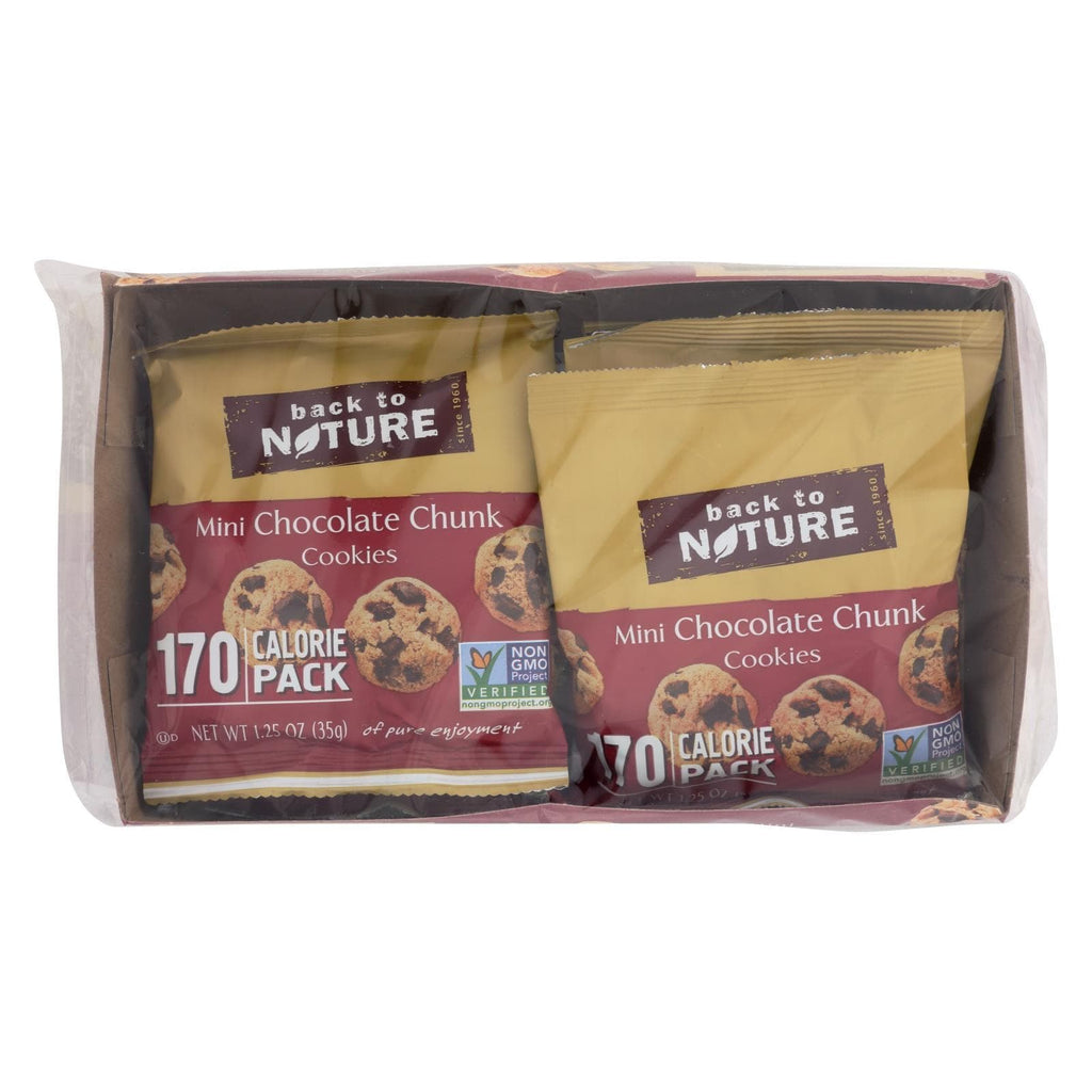 Back To Nature Cookies & Pastries Back To Nature Cookies - Mini Chocolate Chunk - Case Of 4 - 1.25 Oz.