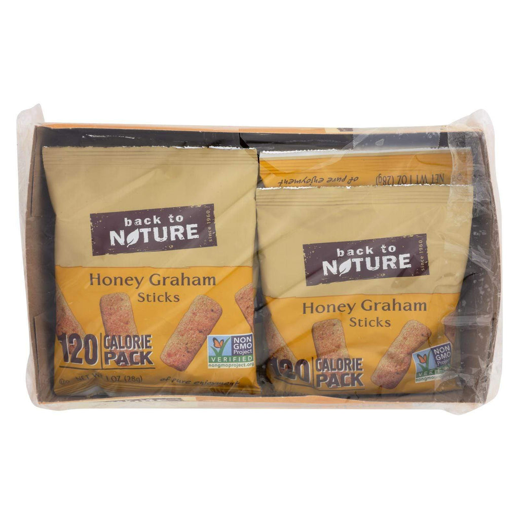 Back To Nature Cookies & Pastries Back To Nature Honey Graham Sticks - Graham Flour And Honey - Case Of 4 - 1 Oz.