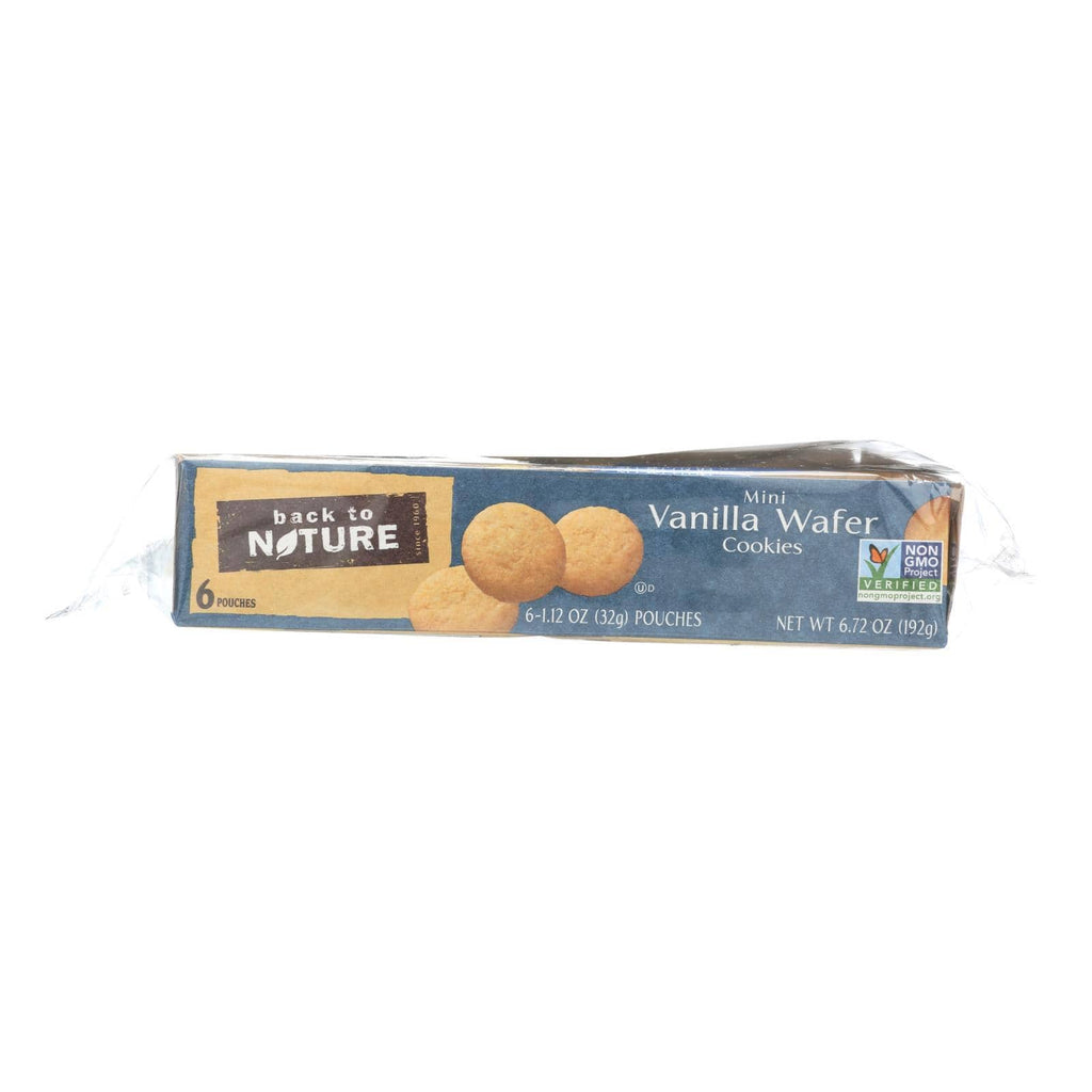 Back To Nature Cookies & Pastries Back To Nature Madagascar Vanilla Wafers - Whole Grain Wheat Flour And Vanilla - Case Of 4 - 1.12 Oz.