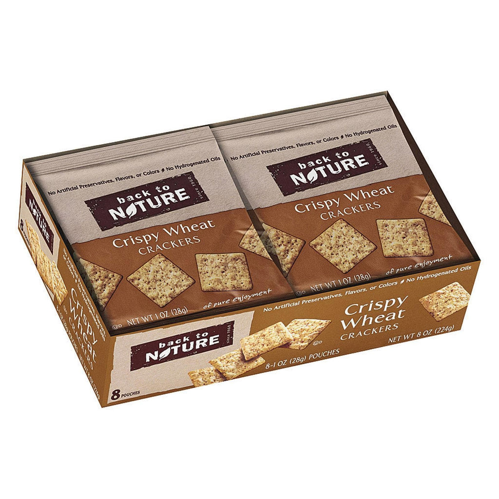 Back To Nature Crackers & Crispbreads Back To Nature Crispy Wheat Crackers - Safflower Oil And Sea Salt - Case Of 4 - 1 Oz.