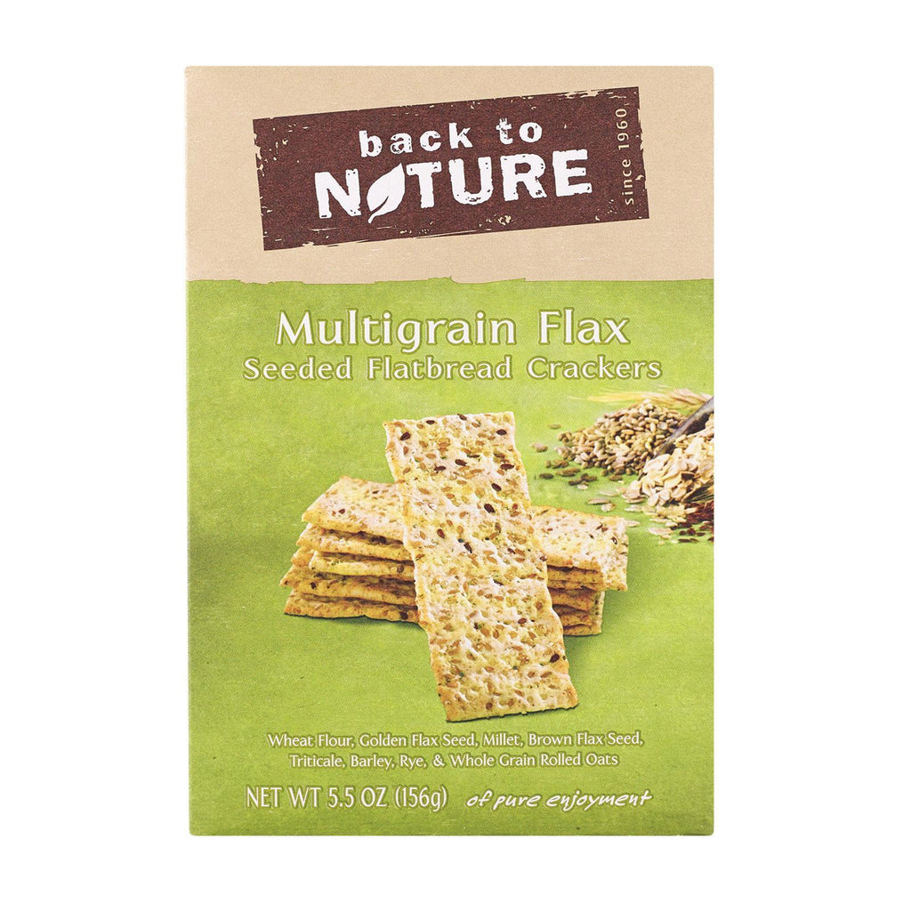 Back To Nature Crackers & Crispbreads Back To Nature Multigrain Flax Seeded Flatbread Crackers - Case Of 6 - 5.5 Oz.
