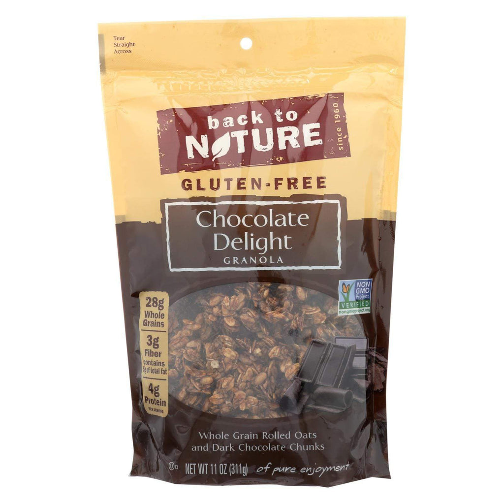Back To Nature Nuts, Seeds & Granola Back To Nature Chocolate Delight Granola - Whole Grain Rolled Oats And Dark Chocolate Chunks - Case Of 6 - 11 Oz.