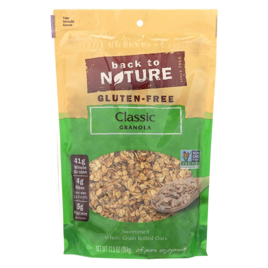 Back To Nature Nuts, Seeds & Granola Back To Nature Classic Granola - Lightly Sweetened Whole Grain Rolled Oats - Case Of 6 - 12.5 Oz.