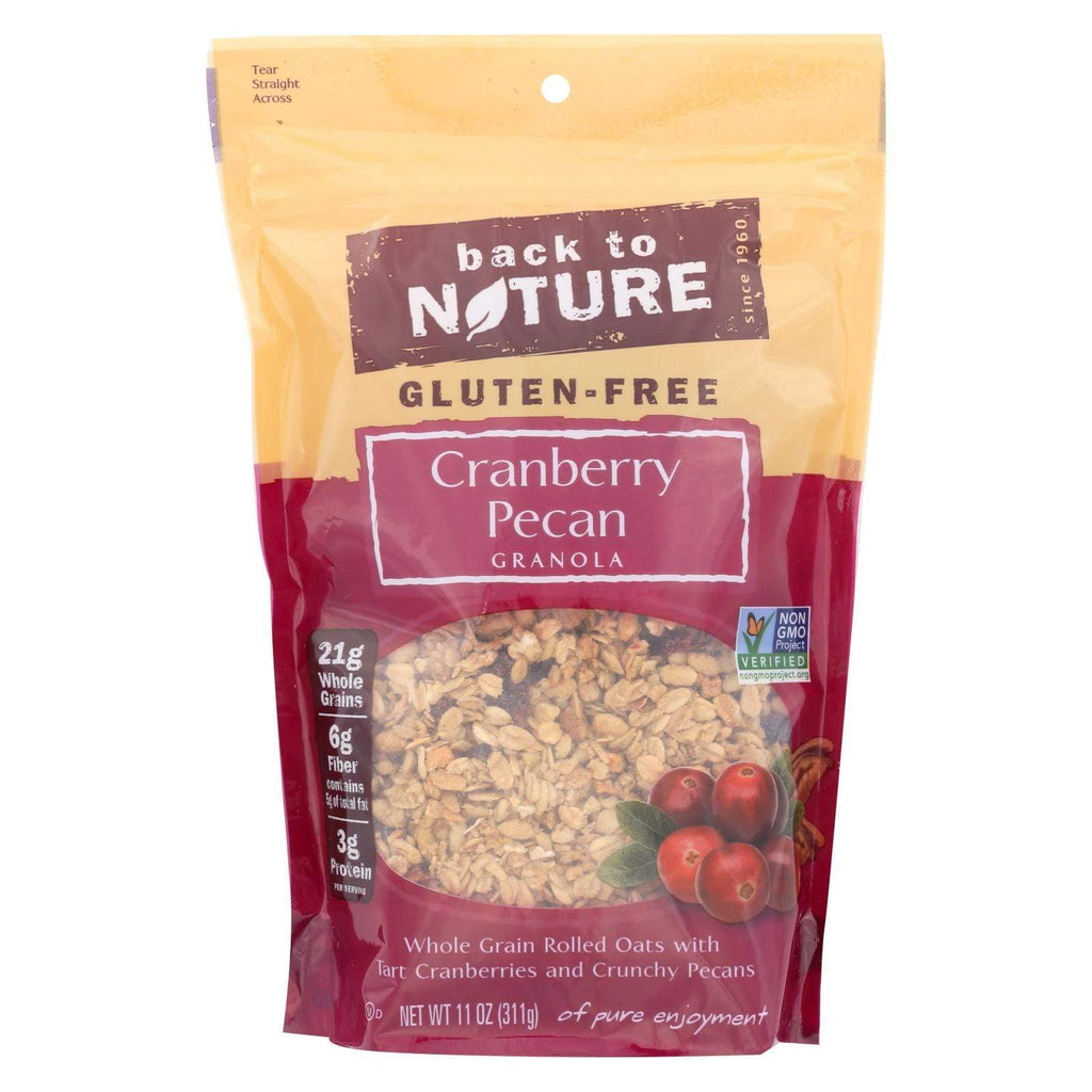 Back To Nature Nuts, Seeds & Granola Back To Nature Cranberry Pecan Granola - Whole Grain Rolled Oats With Tart Cranberries And Crunchy Pecans - Case Of 6 - 11 Oz.