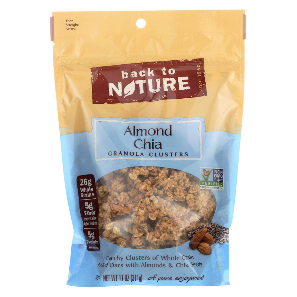 Back To Nature Nuts, Seeds & Granola Back To Nature Granola Clusters - Almond Chia - Case Of 6 - 11 Oz.