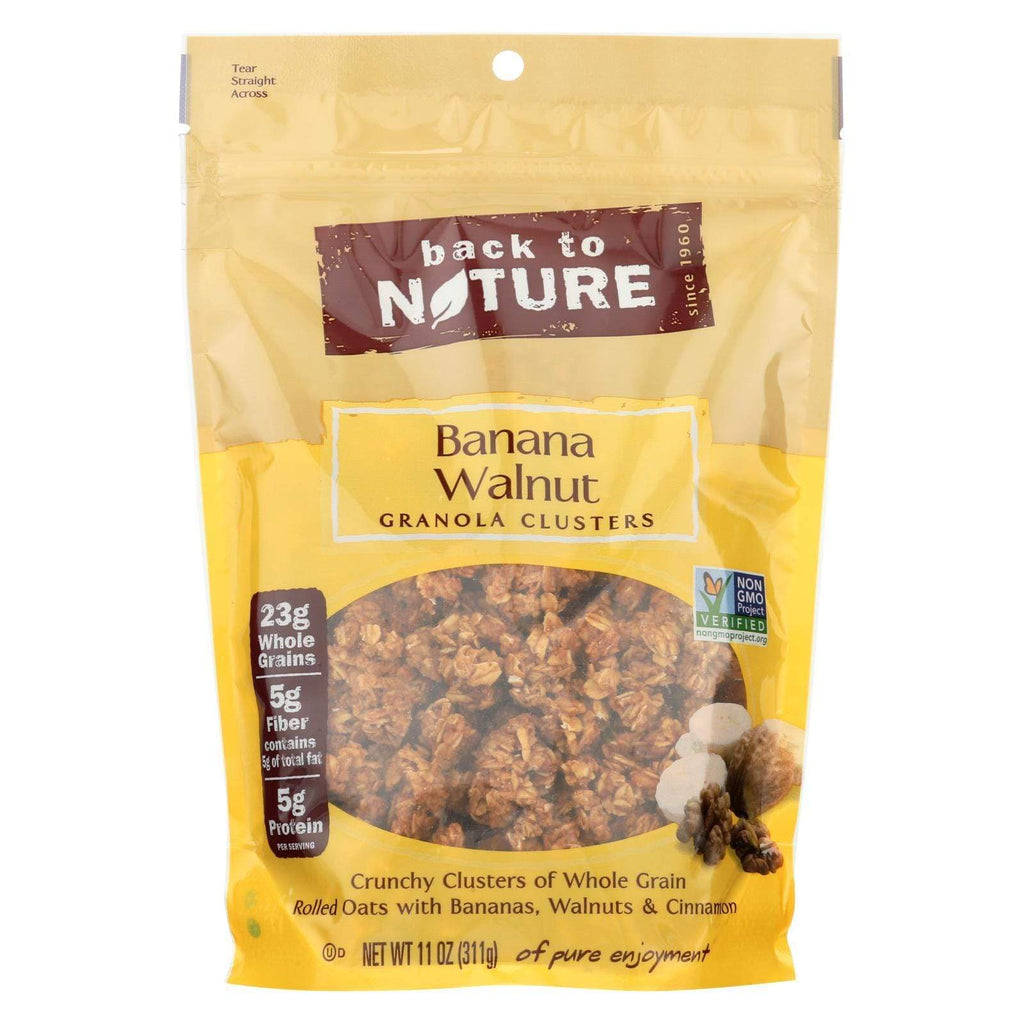 Back To Nature Nuts, Seeds & Granola Back To Nature Granola Clusters - Banana Walnut - Case Of 6 - 11 Oz.