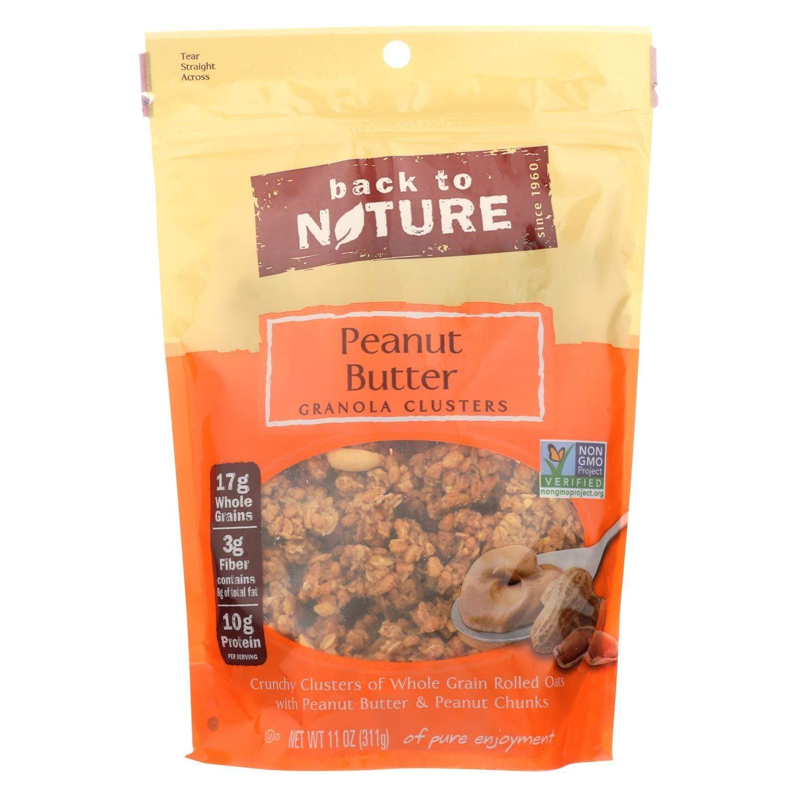 Back To Nature Nuts, Seeds & Granola Back To Nature Granola - Peanut Butter - Case Of 6 - 11 Oz.