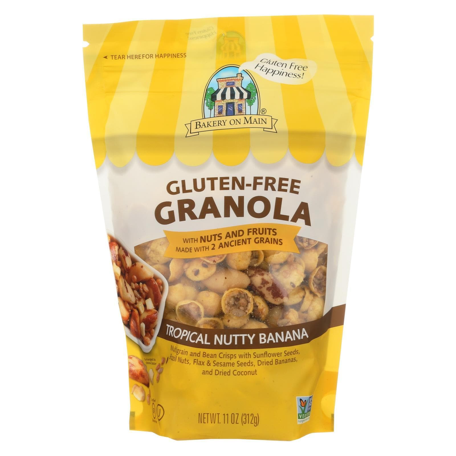 Bakery On Main Nuts, Seeds & Granola Bakery On Main Gluten Free Granola - Rainforest - Case Of 6 - 12 Oz.