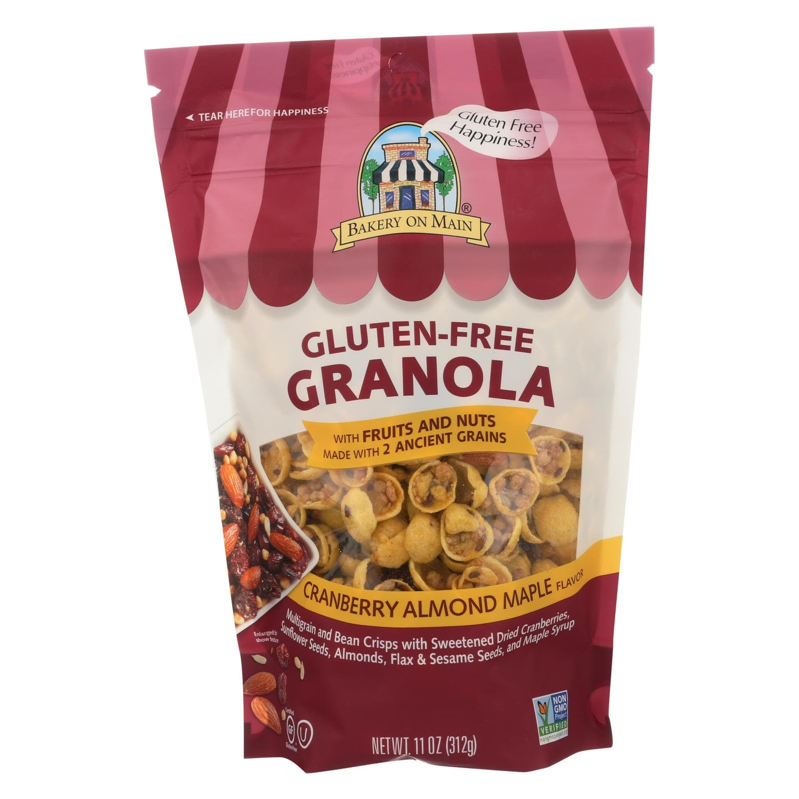Bakery On Main Nuts, Seeds & Granola Bakery On Main On Main Nutty Cranberry Granola - Case Of 6 - 12 Oz.