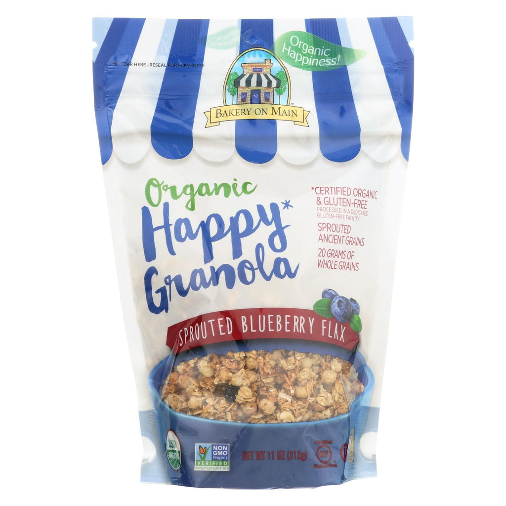 Bakery On Main Nuts, Seeds & Granola Bakery On Main Organic Happy Granola - Sprouted Blueberry Flax - Case Of 6 - 11 Oz