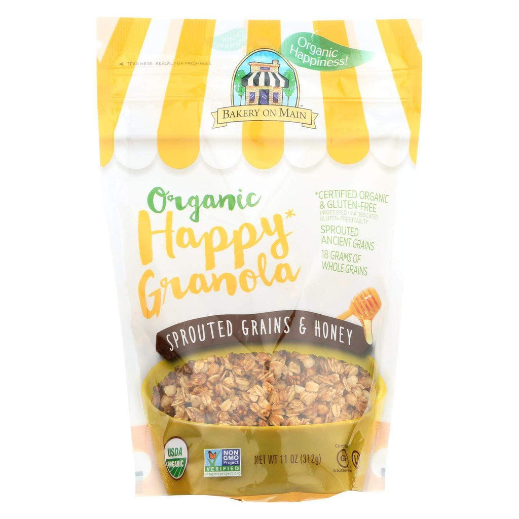 Bakery On Main Nuts, Seeds & Granola Bakery On Main Organic Happy Granola - Sprouted Grains & Honey - Case Of 6 - 11 Oz