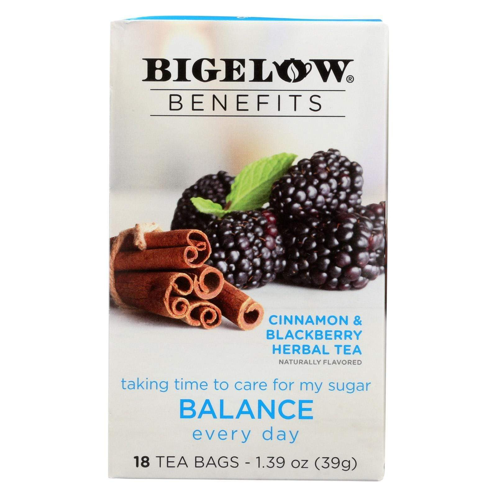 Bigelow Tea Teas, Coffee & Energy drinks Bigelow Tea Tea - Cinnamon Blackberry - Balance - Case Of 6 - 18 Bag