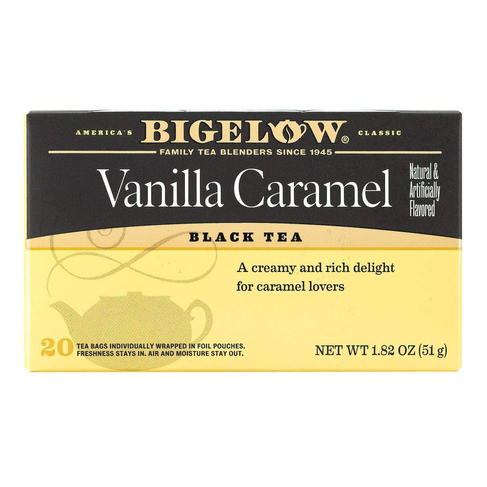Bigelow Tea Teas, Coffee & Energy drinks Bigelow Tea Vanilla Caramel Black Tea - Case Of 6 - 20 Bags
