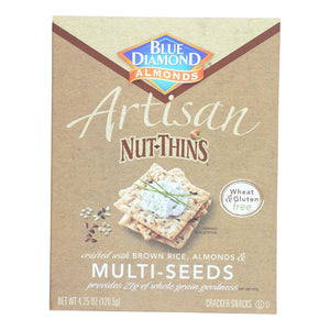 Blue Diamond Crackers & Crispbreads Blue Diamond Artesion Nut Thins - Multi Seed - Case Of 12 - 4.25 Oz.