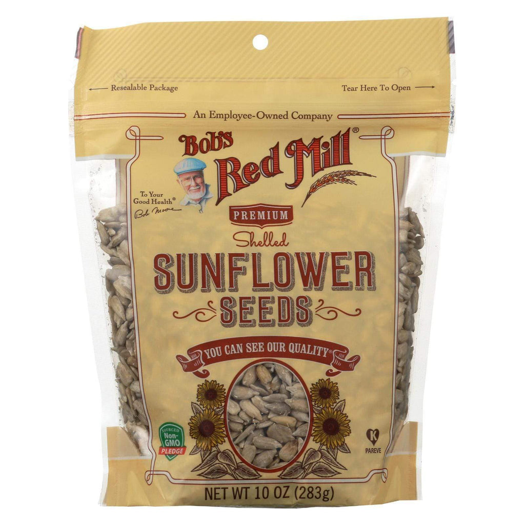 Bob's Red Mill Nuts, Seeds & Granola Bob's Red Mill Seeds - Sunflower - Shelled - Case Of 6 - 10 Oz