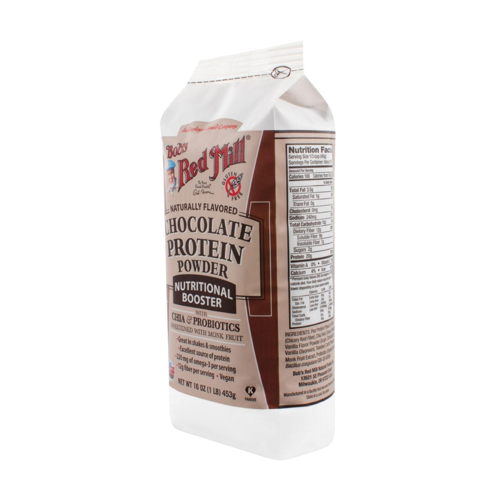Bob's Red Mill Sports And Fitness Bob's Red Mill Chocolate Protein Powder Nutritional Booster - 16 Oz - Case Of 4