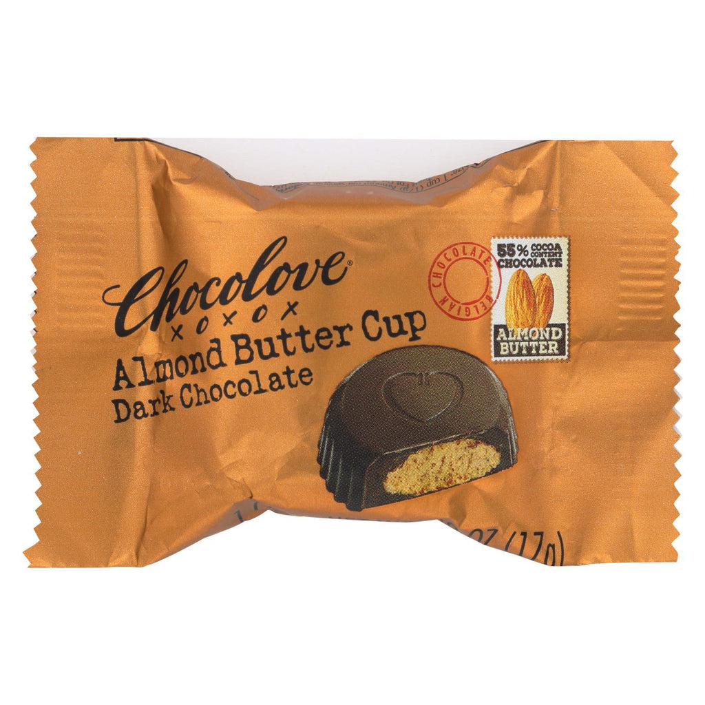 Chocolove Xoxox Chocolate Chocolove Xoxox Cup - Almond Butter - Dark Chocolate - Case Of 50 - .6 Oz