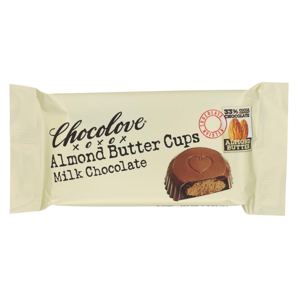 Chocolove Xoxox Chocolate Chocolove Xoxox Cup - Almond Butter - Milk Chocolate - Case Of 12 - 1.2 Oz