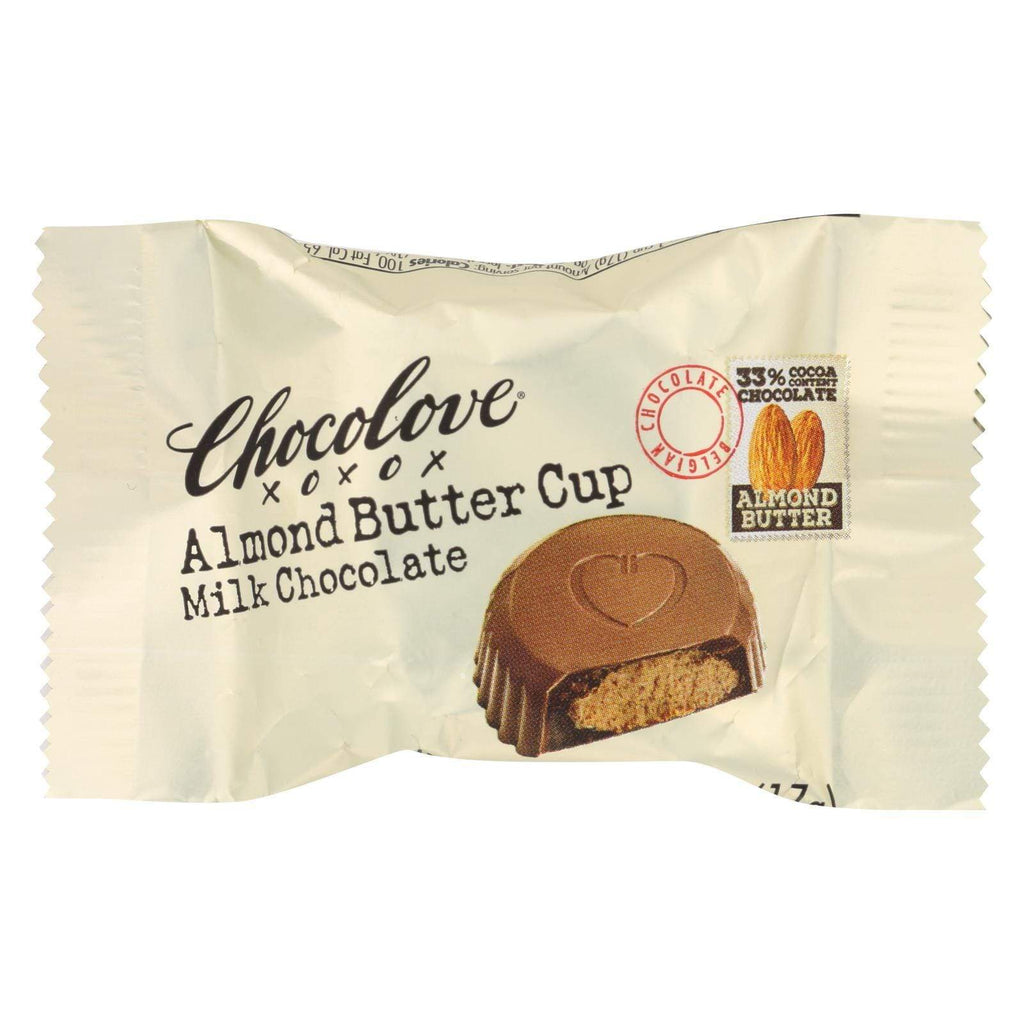 Chocolove Xoxox Chocolate Chocolove Xoxox Cup - Almond Butter - Milk Chocolate - Case Of 50 - .6 Oz