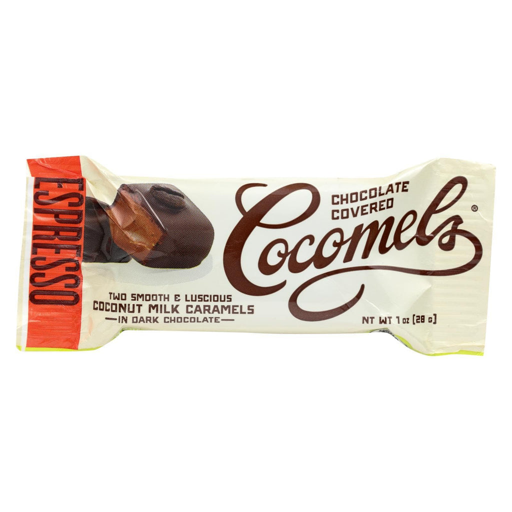 Cocomel Chocolate Cocomel Dark Chocolate Covered Cocomels - Espresso - Case Of 15 - 1 Oz.