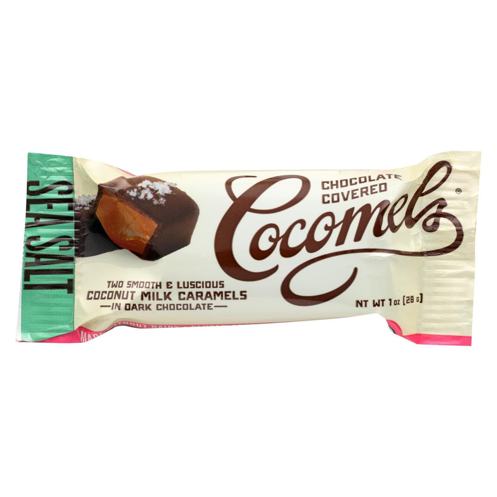Cocomel Chocolate Cocomel Dark Chocolate Covered Cocomels - Sea Salt - Case Of 15 - 1 Oz.