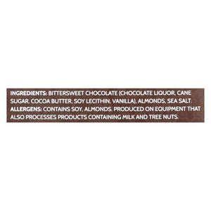 Endangered Species Chocolate Chocolate Endangered Species Natural Chocolate Bar - Dark Chocolate - 72 Percent Cocoa - Sea Salt And Almonds - 3 Oz Bars - Case Of 12