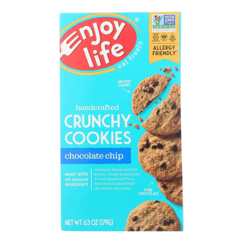 Enjoy Life Cookies & Pastries Enjoy Life - Cookie - Crunchy - Chocolate Chip - Gluten Free - 6.3 Oz - Case Of 6