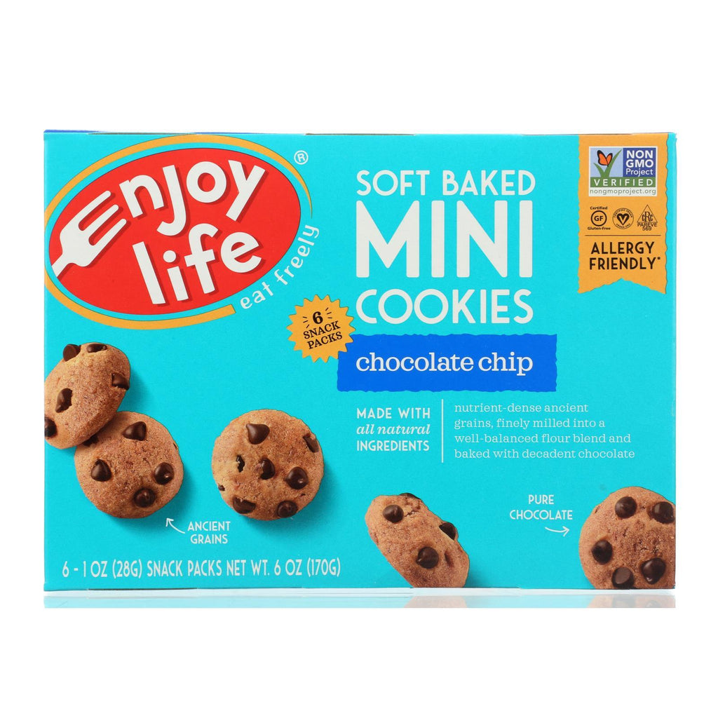 Enjoy Life Cookies & Pastries Enjoy Life Mini Cookies - Chocolate Chip - Case Of 6 - 6 Oz.