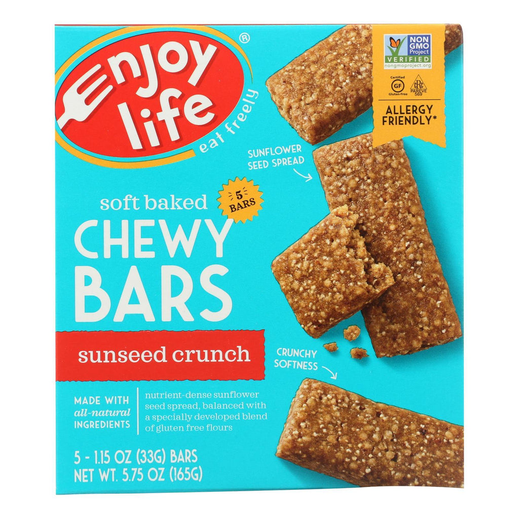 Enjoy Life Cookies & Pastries Enjoy Life - Snack Bar - Sunseed Crunch - Gluten Free - 5 Oz - Case Of 6