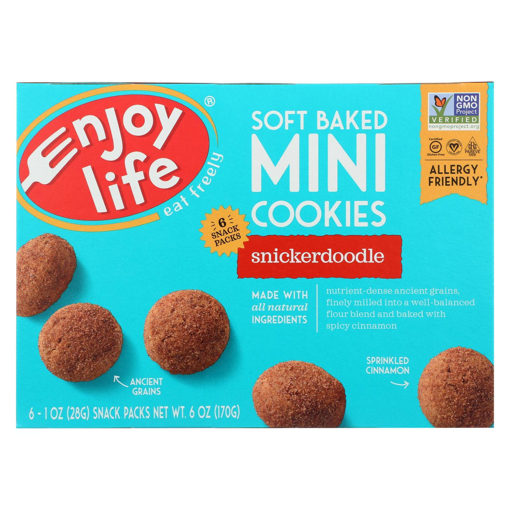 Enjoy Life Cookies & Pastries Enjoy Life Soft Baked Minis Cookies - Snickerdoodle - Case Of 6 - 6 Oz