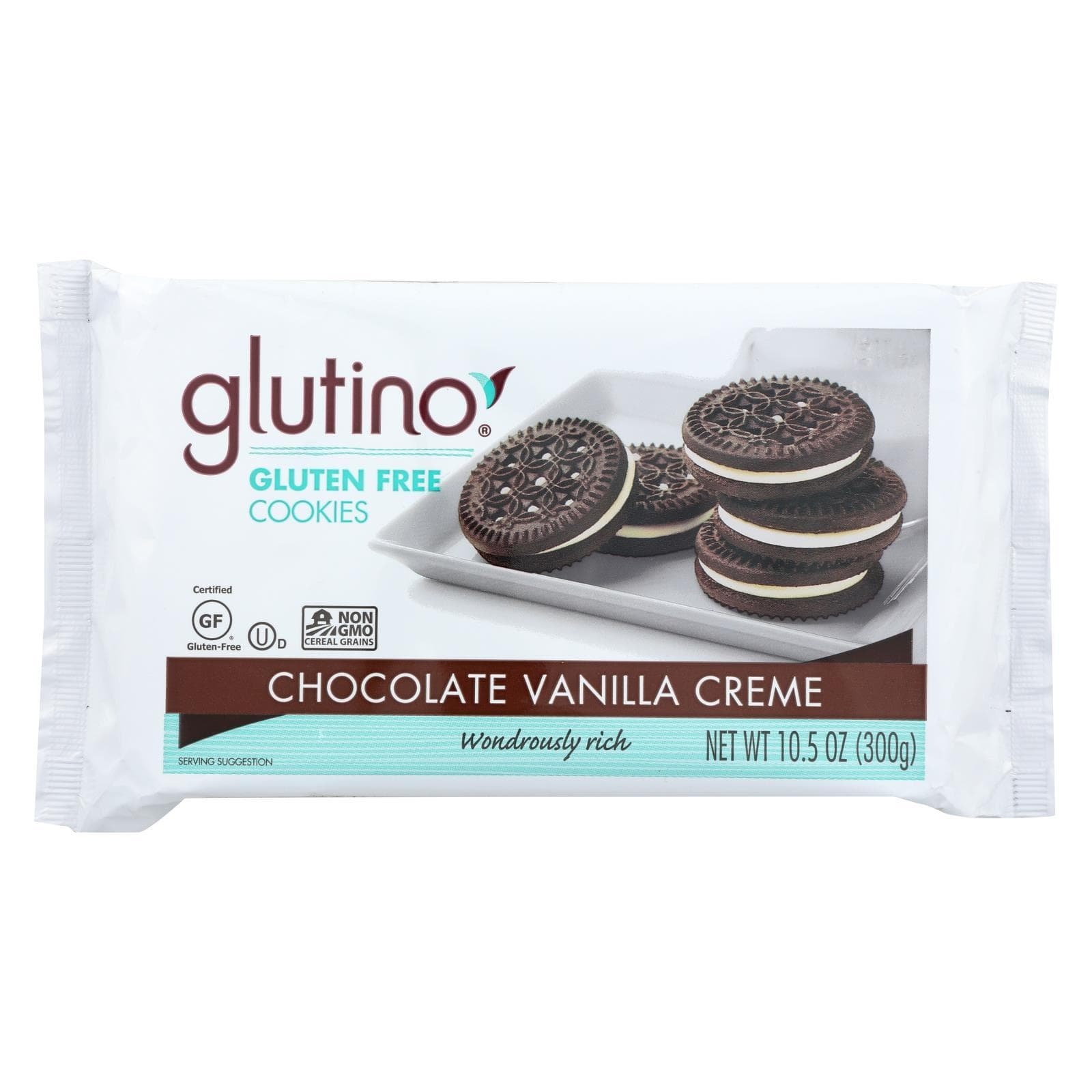 Glutino Cookies & Pastries Glutino Vanilla Creme Cookies - Case Of 12 - 10.5 Oz.