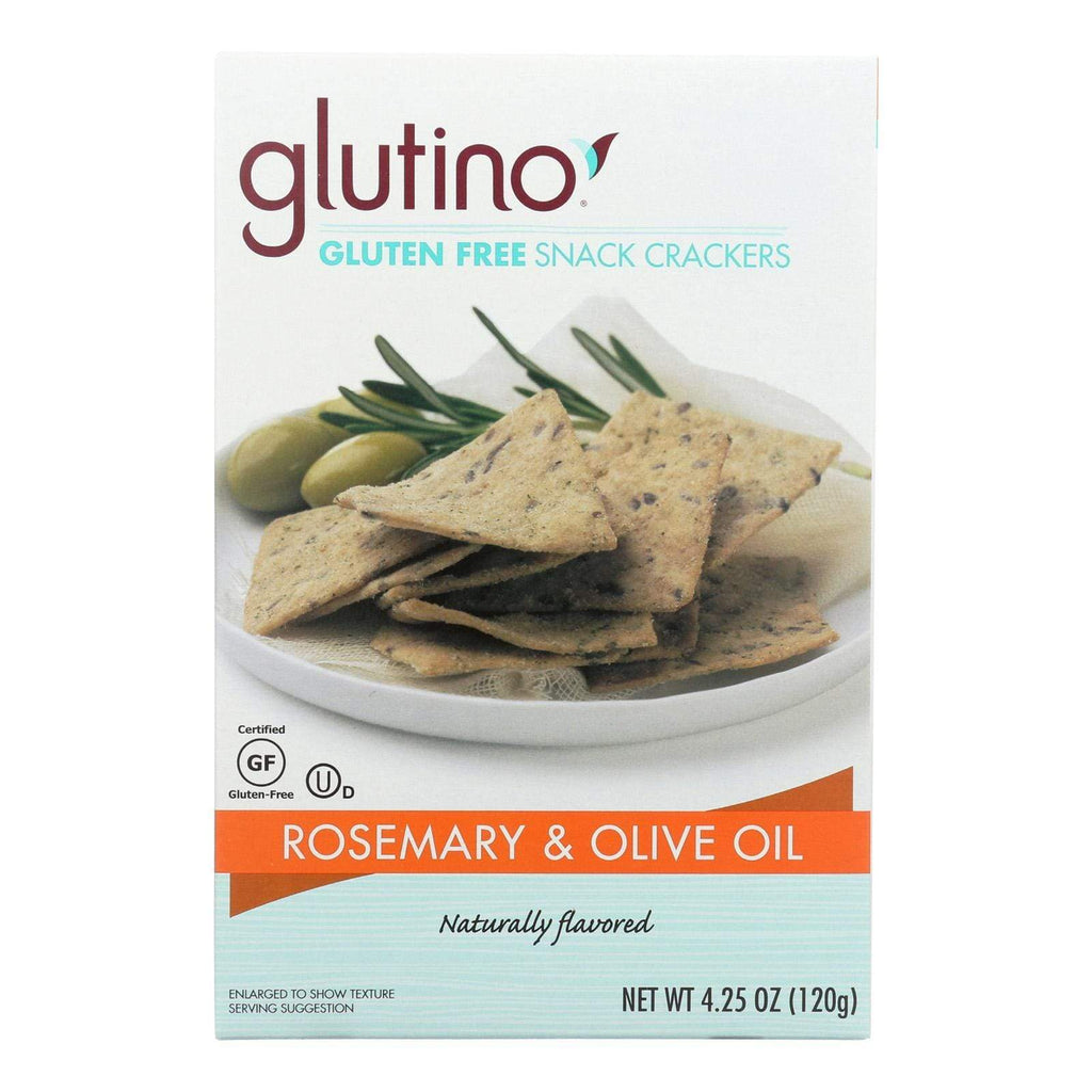 Glutino Crackers & Crispbreads Glutino Crackers - Rosemary And Olive Oil - Case Of 6 - 4.25 Oz.