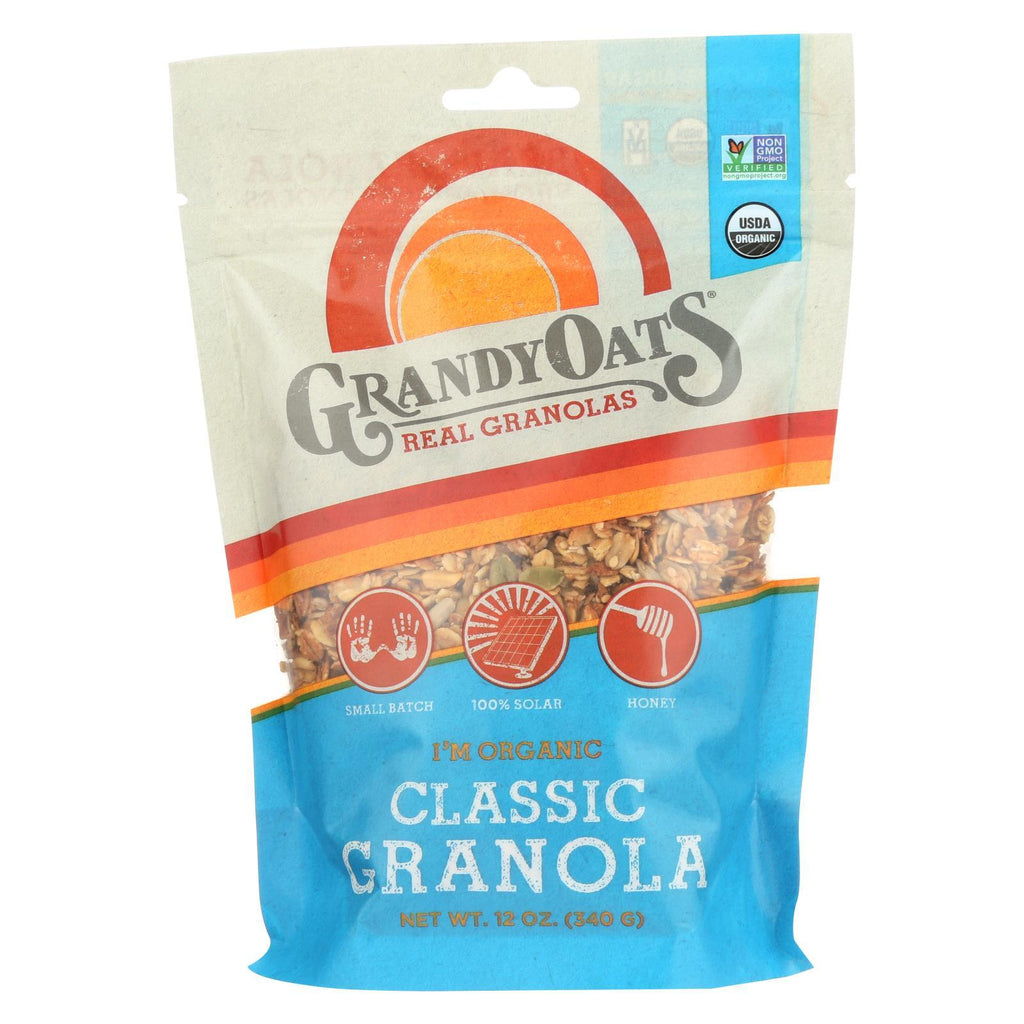 Grandy Oats Nuts, Seeds & Granola Grandy Oats Granola - Classic - Case Of 6 - 12 Oz.