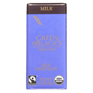 Green And Black's Chocolate Green And Black's Organic Chocolate Bars - Milk Chocolate - 34 Percent Cacao - Impulse Bars - 1.2 Oz - Case Of 20